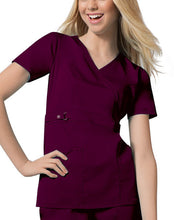 Cherokee Luxe Women's Mock Wrap Top ( Wine )