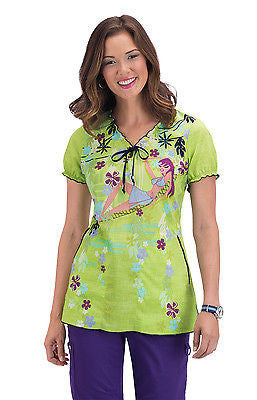 KOI Bridgette Scrub Top (Jungle Girl)