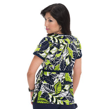KOI Kathryn Scrub Top (Dot Tropical)