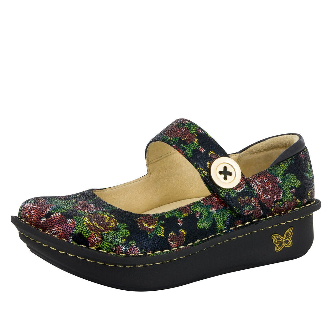 Algeria Paloma Printed Leather Shoe (Winter Garden)