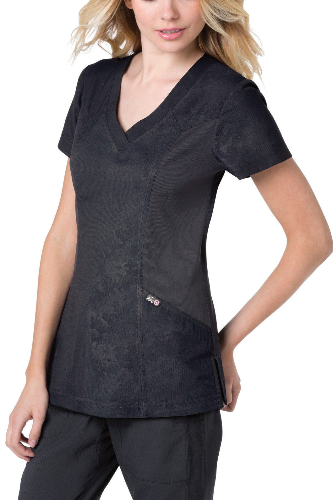 Koi Asana Scrub Top (Charcoal)
