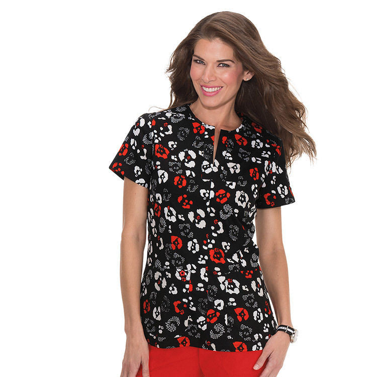 KOI Naomi Scrub Top (Wild Animals)