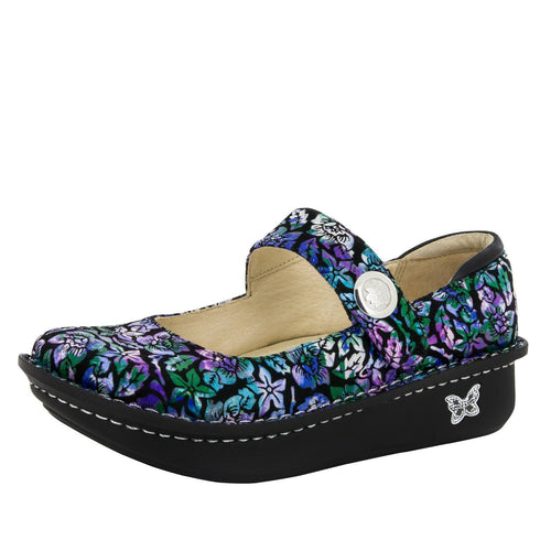Alegria Paloma Printed Leather Shoe (Hibiscus)