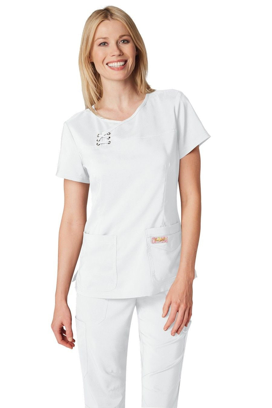 Koi Tech Serena Scrub Top (White)