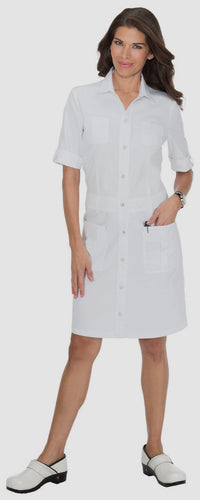 Koi Alexandra Scrub Dress (White)