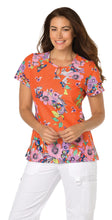 KOI Carly Scrub Top (Scrolled Butterflies)