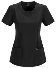 Cherokee Women's Infinity Round Neck Top ( Black )