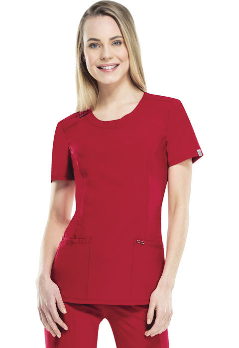 Cherokee Women's Infinity Round Neck Top ( RED )