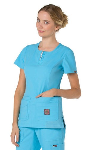 Koi Serenity Scrub Top ( Electric Blue )