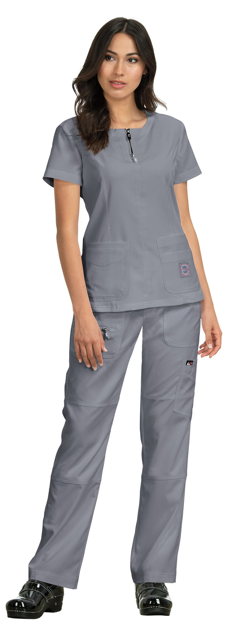 Copy of Copy of Koi Serenity Scrub Top (Platinum Grey)