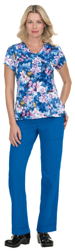 Mariposa by Koi Stretch Paulina Scrub Top (Butterfly Effect)