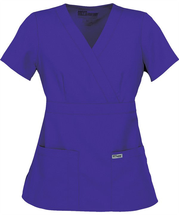 Grey's Anatomy Junior Mock Wrap Scrub (4153 Purple Rain)