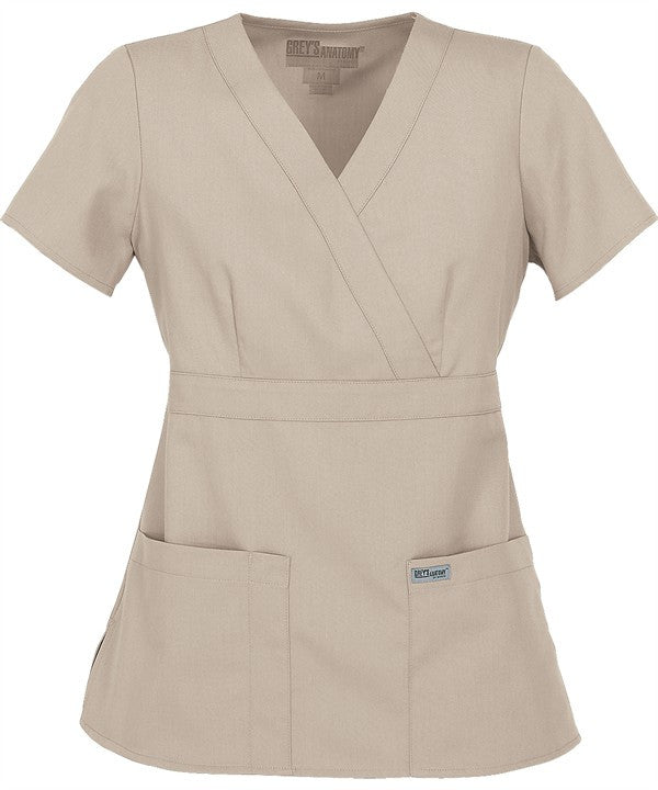 Grey's Anatomy Junior Mock Wrap Scrub (4153 Khaki)