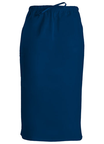 Cherokee Workwear Drawstring Scrub Skirt (Navy)