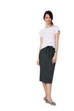 Cherokee Workwear Drawstring Scrub Skirt (Pewter)