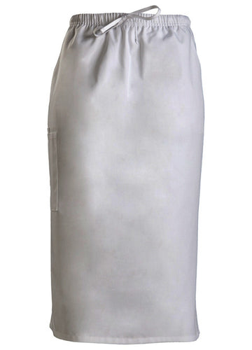 Cherokee Workwear Drawstring Scrub Skirt (White)
