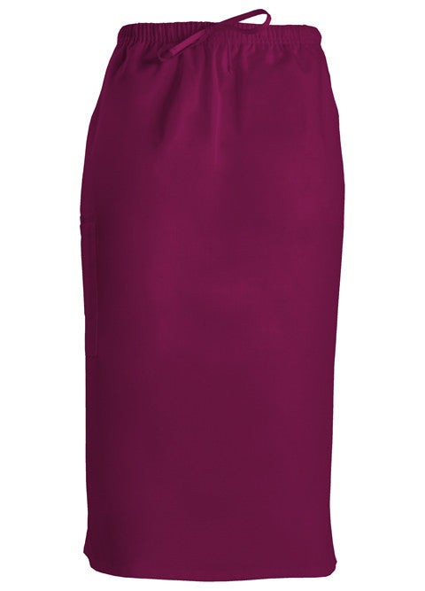 Cherokee Workwear Drawstring Scrub Skirt (Wine)