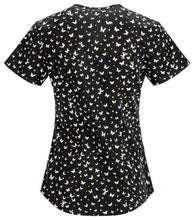 Code Happy Women's Scrub Print Top (  Beautyful Butterfly )