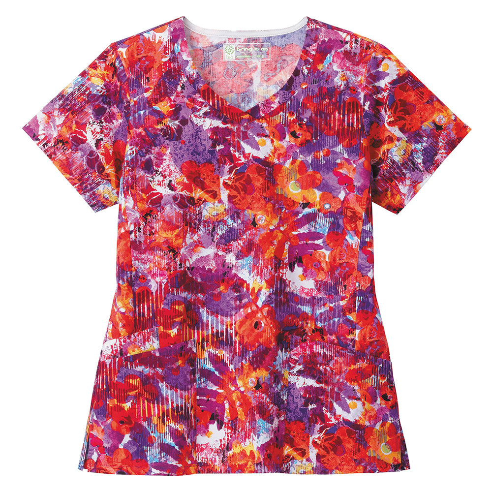 Bio Women's Print Top ( Vibrant Blooms )