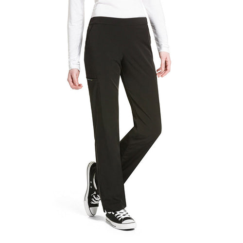 WonderWink Straight Leg Scrub Pant (Black)