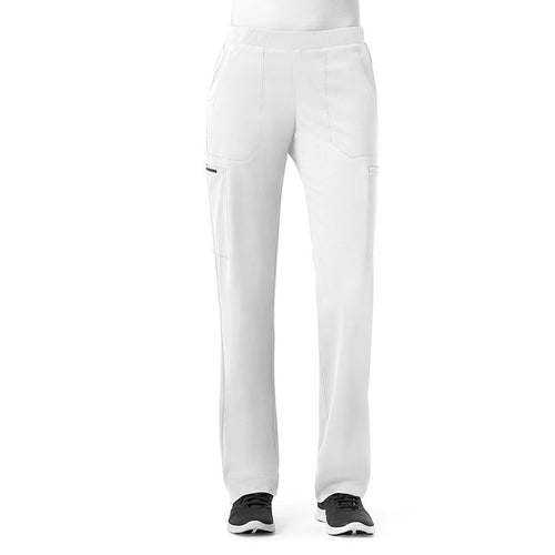 WonderWink Straight Leg Scrub Pant (White)
