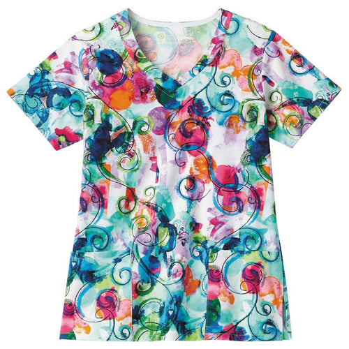 Bio Women's Print Top (Color Burst)
