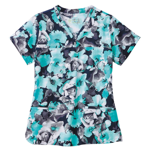 Bio Women's Print Top (Seaside Flowers)
