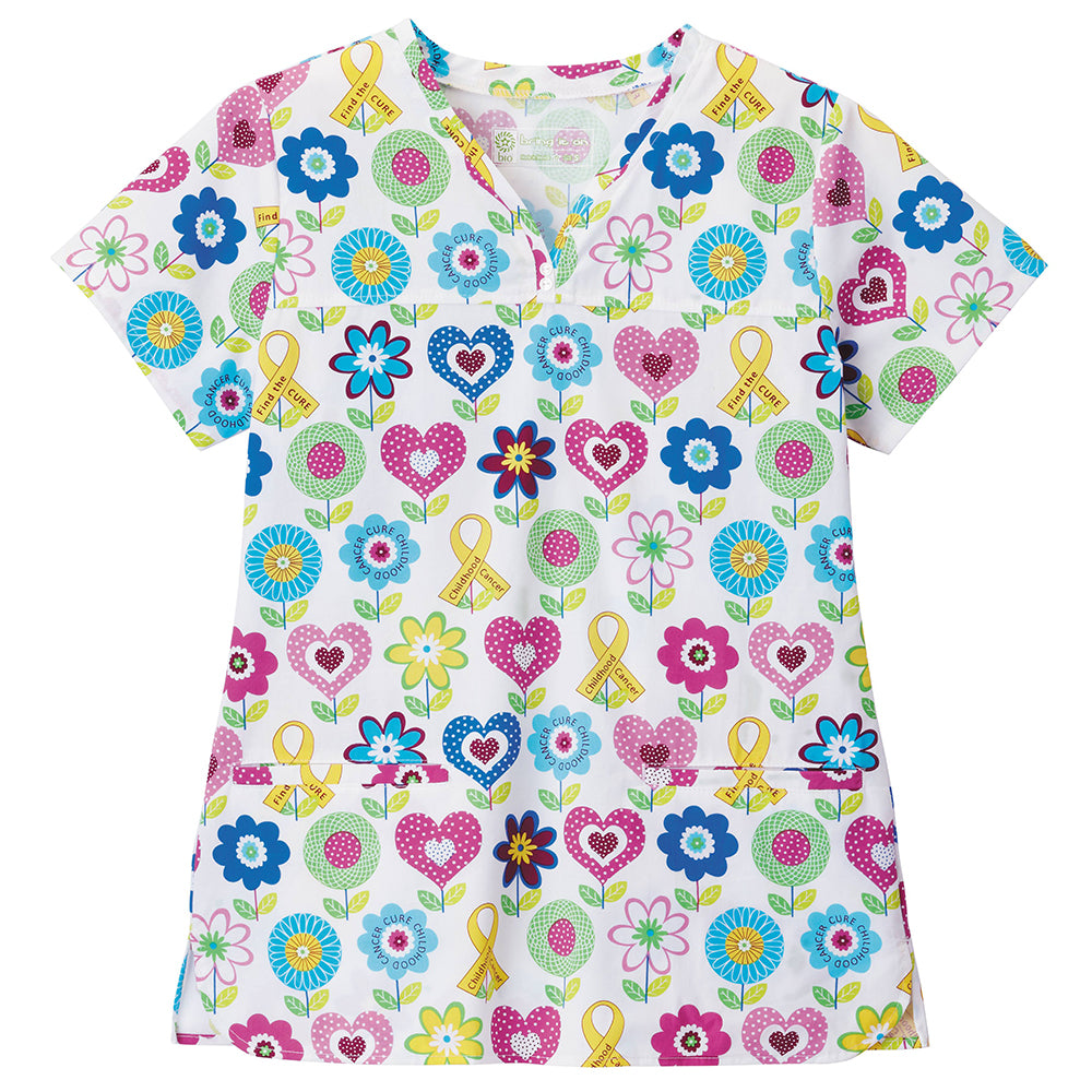 Bio Women's Floral Print Scrub Top (For Courtney)