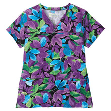 Bio Women's Floral Print Scrub Top (Leaves Anew)