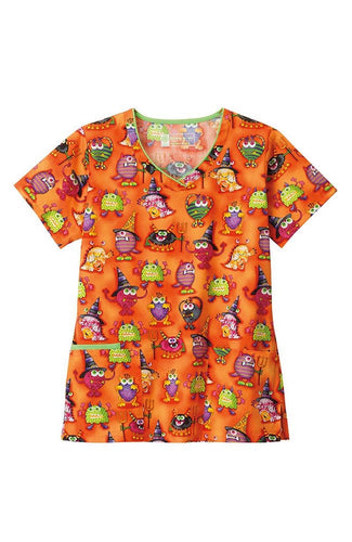 Bio Women's Halloween Print Top ( Little Monsters )