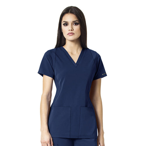 WonderWink V-Neck Scrub Top (Navy)