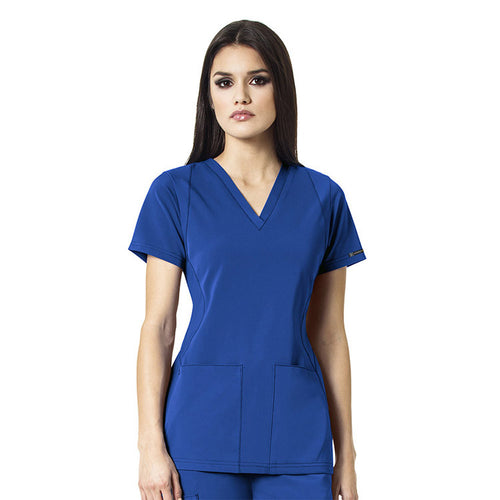 WonderWink V-Neck Scrub Top (Royal)