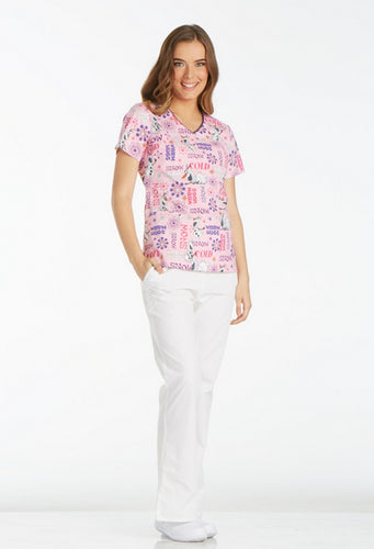 Disney By Cherokee Women's V-Neck ( Snow Hugs )