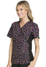 Flexibles by Cherokee Women's Mock Wrap Print Scrub Top(  The Party Spot )