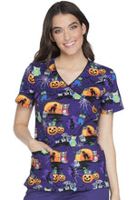Cherokee Women's Halloween Print Top ( Owl Be Trick Or Treating )