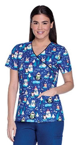 Cherokee Women's Christmas Snowman Tops (Snow It Goes)