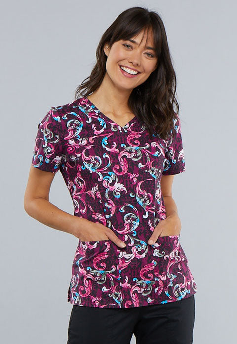 Cherokee Women's Print Tops (Just Scroll On By)