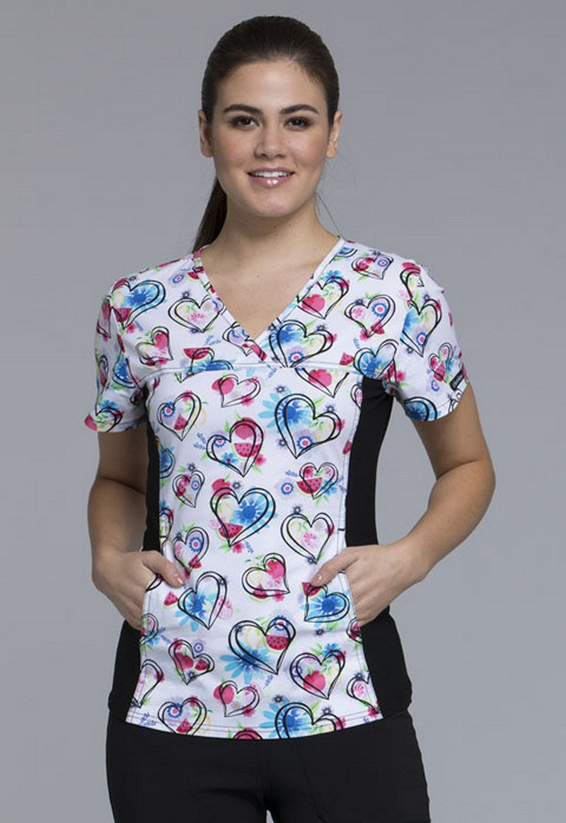 Cherokee Women's Floral Print Tops ( Heart Healthy)