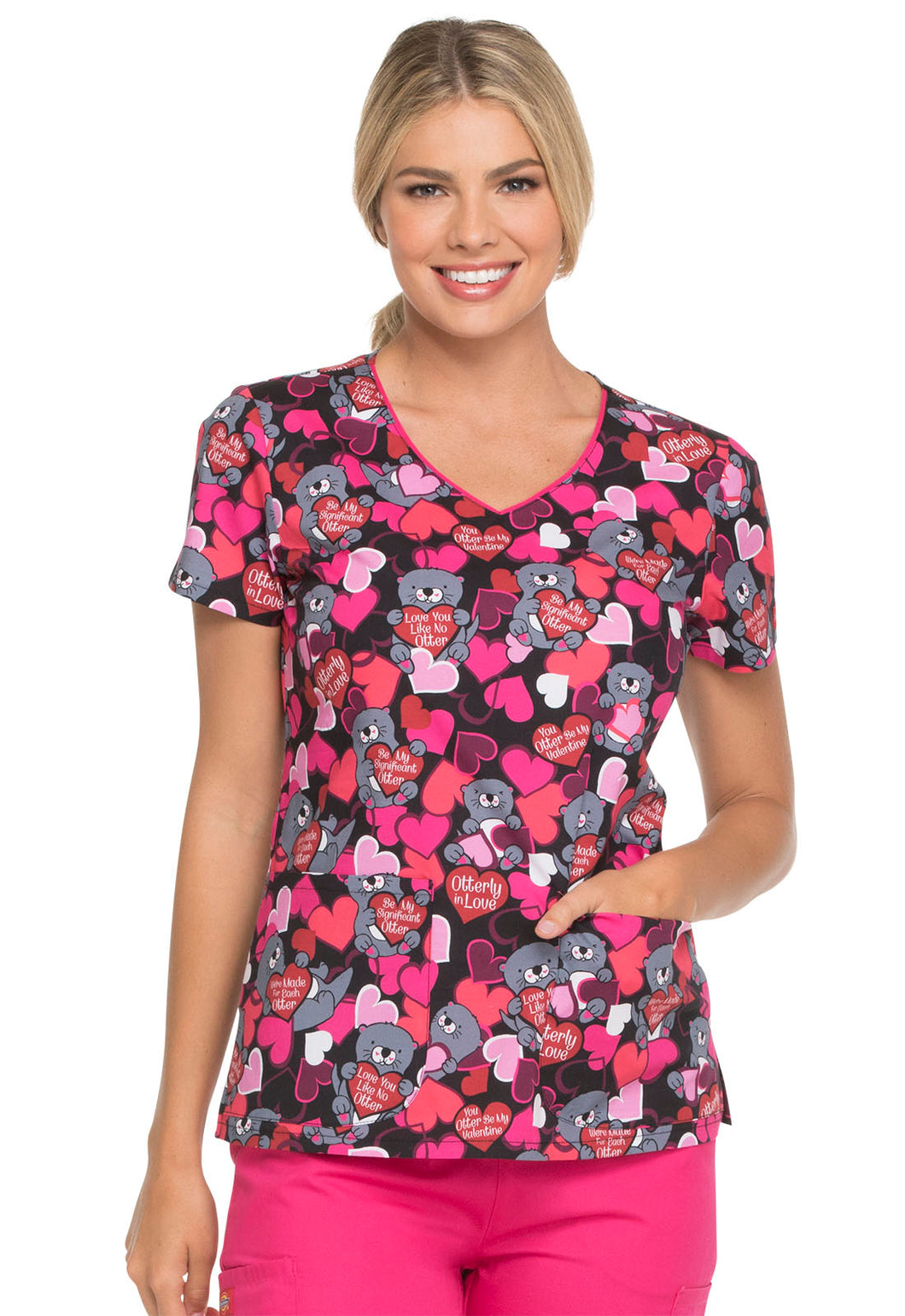 Dickies EDS Women's V-Neck Scrub Top (Made for Each Otter)