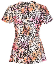 Dickies Women's V-Neck Animal Print DK702X2-WFYU