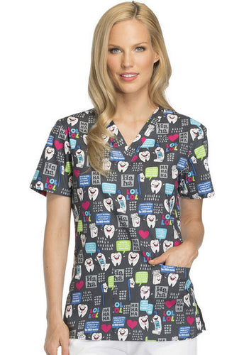Dickies Women's Dental Print Top (  Have A Laugh )