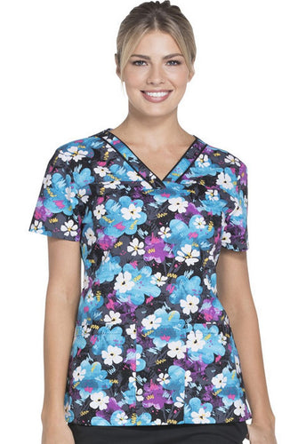 Dickies Women's Hearts Print Top (Doodle And Daisies)