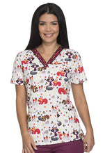 Dickies Women's Thanksgiving Print Top ( Thankful Forest Friends )