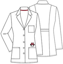 "Disney By Cherokee Women's 32"" Minnie Mouse Embroidered Lab Coat TF400"