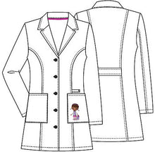 "Disney By Cherokee Women's 33"" Doc Mc Stuffins Embroidered Lab Coat"