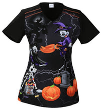 Disney Women's Halloween Print Top ( Mickey Witching Hour )