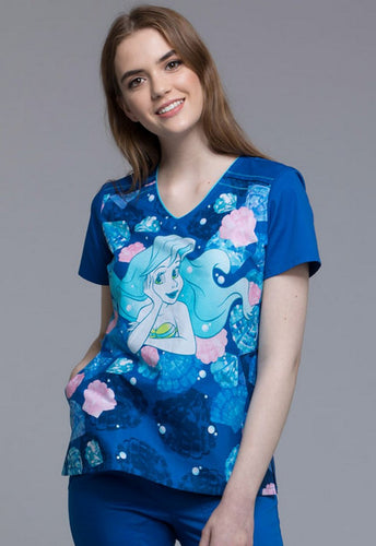 Disney Princess Women's Print Top (She Sells Sea Shells)