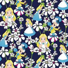 Disney Alice in Wonderland Print Scrub Top ( Alice Looking Glass )