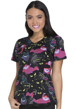 Disney Women's Halloween Print Top ( Cheshire Madness )