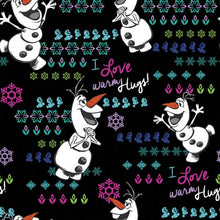 Disney By Cherokee Women's V-Neck (  Warm And Fuzzy Olaf )